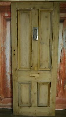 XV31/08 (31 1/2  x 80 1/4) Antique victorian old solid pine wooden door N Yorks