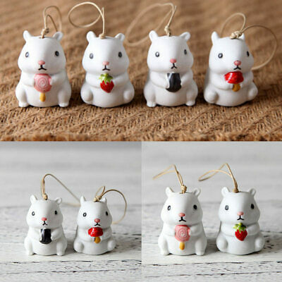Exquisite hand-made ceramic wind chimes jewelry cute rabbit wind bell T9Z1 10X