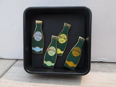 Pin's Badge Collection Coffret Perrier 4 Pins