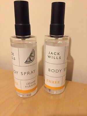 2 X Jack Wills body spray THREE 120ml