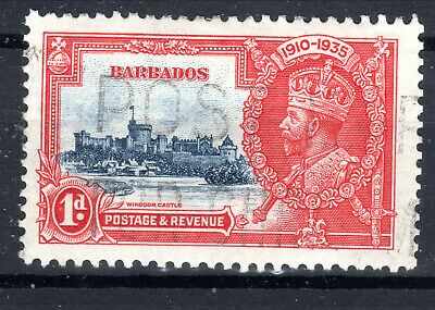 Barbados 1d  Silver Jubilee SG241 [1J903-2]