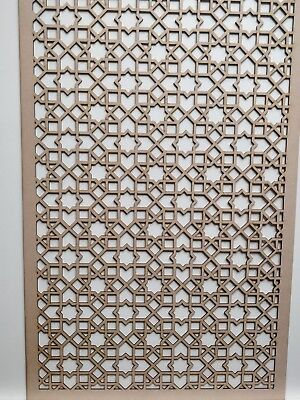 Radiator Cabinet decor.Maro Screening Perforated 3mm & 6mm thick MDF laser cutM3