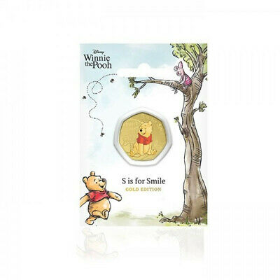 The NEW Winnie the Pooh 24-Carat Gold-Plated Commemorative coin medal