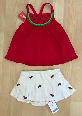 Nwt 3-6 Months Gymboree Summer Picnic Embroidered Watermelon Denim Pants Jeans Baby & Toddler Clothing