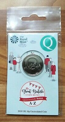 Royal Mint New 10p coin 2018 letter Q Queuing in sealed pack