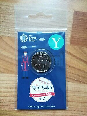 Royal Mint New 10p coin 2018 letter Y Yeoman in sealed pack