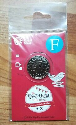 Royal Mint New 10p coin 2018 letter F Fish and Chips in sealed pack