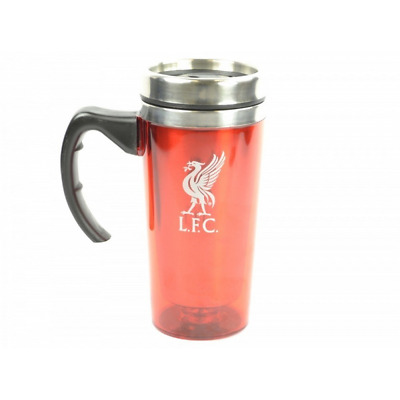 Liverpool FC Official Football Crest Aluminium Travel Mug (One Size) (Red)*