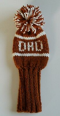 DAD Any Color Birthday Gift Hand Knit 10-inch GOLF CLUB HEAD-COVER for Woods
