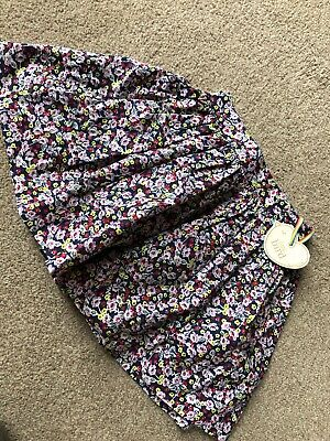 Little Bird By Jools Oliver First Season 2012 Floral Purple Skirt 3-4 Years