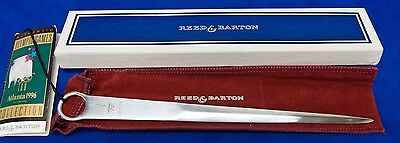 Reed & Barton Silver Plated 1996 Atlanta Games Letter Opener