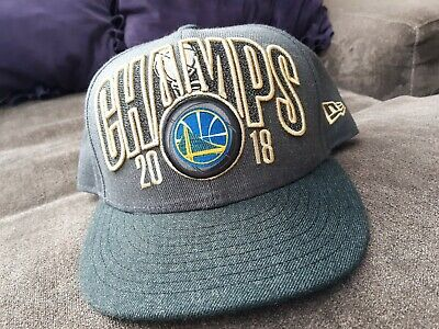 outlet store 2ebdc b92f3 Golden State Warriors 9Fifty New Era Snapback Hat 2018 Nba Champs