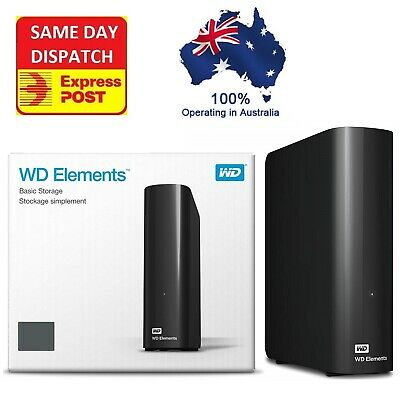 Western Digital WD Elements 10TB 8TB 6TB 4TB USB 3.0 Desktop External Hard Drive