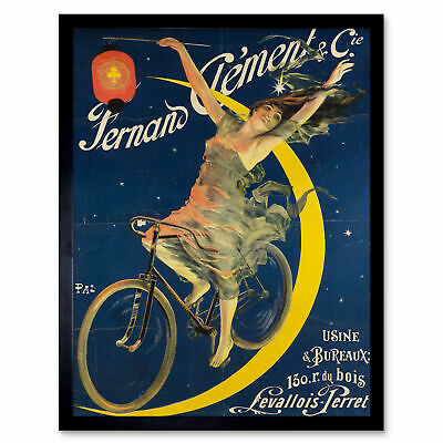 Pal Fernand Clement Bicycles Moon Advert Framed Wall Art Poster