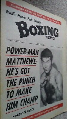 Sept 15Th  1972 Boxing News Phol Matthews V Bunny Sterling Preview / Olympics