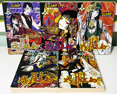 Lot of 5x xxxHolic Manga / Anime Books by Clamp: Number 1-5! Tsubasa Crossover!
