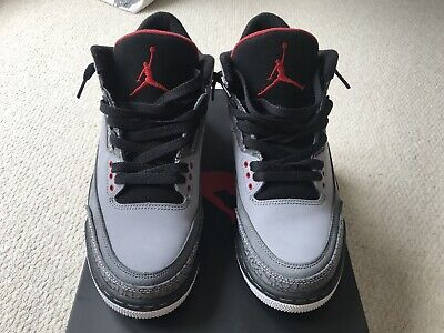 sports shoes a8cb2 aa0d0 nike air jordan 3 Stealth Varsity Red Graphite Black 2011 uk7 us8 worn  trainers