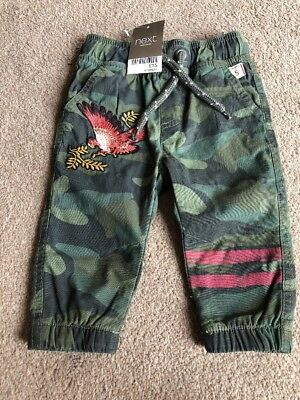Next Baby Boys Camouflage Eagle Lined Joggers Trousers 6-9 Months
