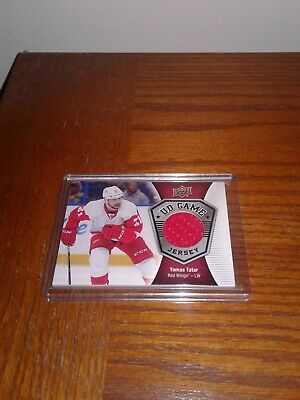 2016-17 Upper Deck UD Game Jersey Patch GJ-TO Tomas Tatar Detroit Red Wings Card