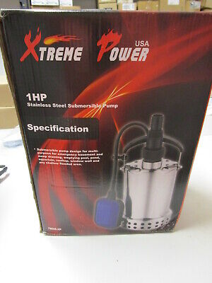 Xtreme Power 1 Hp Stainless Steel Submersible Pump #76045-Xp -  New In Box
