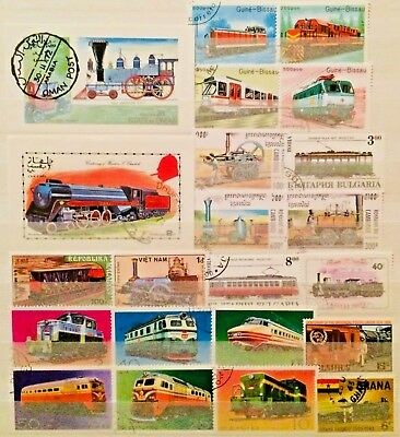 Railway Trains Thematic Topic 2 Sheets Stamps Educational Collection 04270119