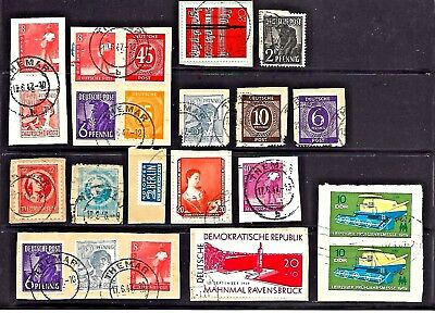 ALT DEUTSCH GERMANY THURINGIA BERLIN STAMPS OLD RARE ON PIECE LOT No.131017