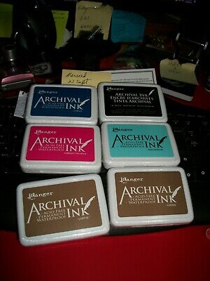 Archival Ink Pads Variety New and Sealed / Fast Free Post