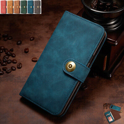 For Samsung Galaxy S7 S10+/Note 8 9 Removable Magnetic Leather Wallet Case Cover