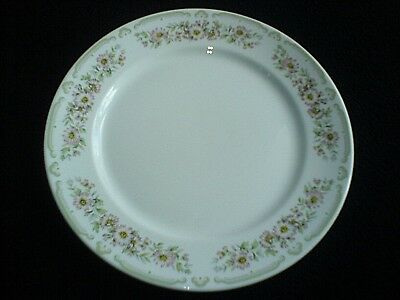 DUDSON White/Pink Daisy + Pale Green Pattern 9 inch Plate x 1 ( 4 available)