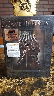 NEW Game of Thrones: The Complete First Season (DVD, 2015, 5-Disc Set) SEALED