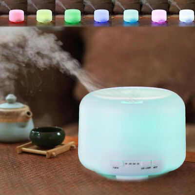 500ml 7 Led Air Aroma Essential Oil Diffuser Ultrasonic Aromatherapy Humidifier-