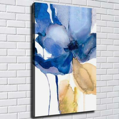 """12""""x18""""Abstract Blue Flower HD Canvas Print Painting Home Decor Wall Art Picture"""