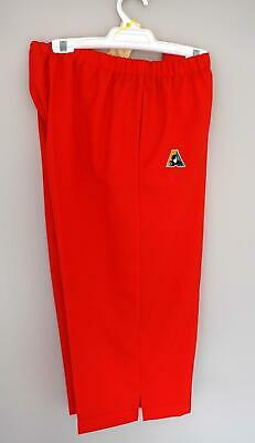 Lawn Bowls Clearance: NEW DOMINO Ladies Sz 18 Red 3/4 Pants FREE POST