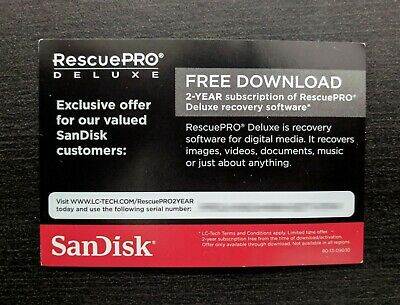 SanDisk RescuePro Deluxe - 2 Year Subscription Key