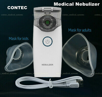 CONTEC Portable Mesh Nebulizer Inhaler Respirator Medical use 5μm particle+ Mask