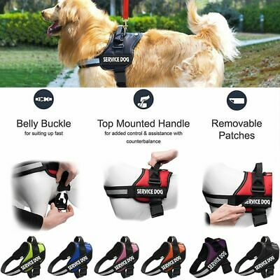 Nylon No-pull Dog Pet Harness Reflective Outdoor Pet Vest Padded Handle XS-XXL
