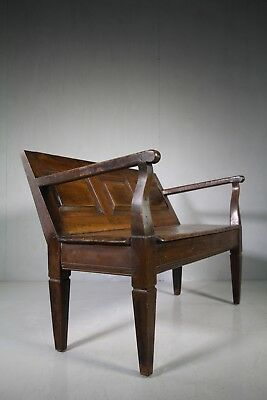 Early 19th Century Fruitwood Antique Settle Seat