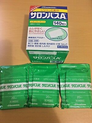 Hisamitsu SALONPAS Pain Relief Patch 3 packs(60 patches) Genuine Product JAPAN!