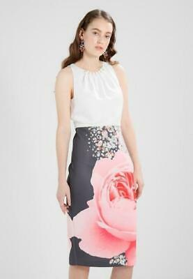 d032c58f7847 TED BAKER LONDON RUBELLE Blenheim Palace Midi Dress Ted size 5 (USA ...