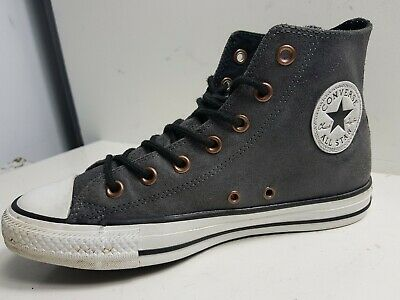 85bf214a5a87 Converse All Star CT MENS GREY VINTAGE LEATHER HI TOP TRAINERS SIZE UK 6 EU  39