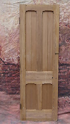 Old Victorian pitch pine period tall door reclaimed stripped T07 (27 1/4 x 84 )