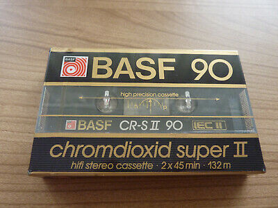 BASF CR S 90 Chromdioxid super II audio cassette sealed