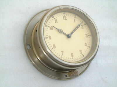 Vintage Russian Cccp Winding Ships Boat Yacht Marine Navigation Deck Watch Clock