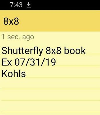 Shutterfly 8x8 Photo Book Code Exp 7/31/19 FREE Kohls