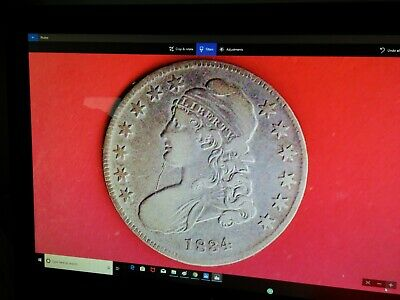 1834 Capped Bust Half Dollar,High Grade,(1554)