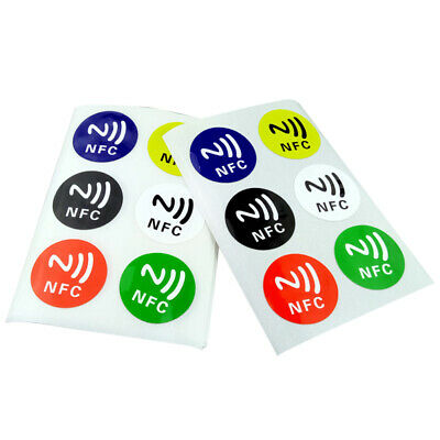 6pcs Round NFC Stickers Waterproof 13.56MHz Universal Smart Tag Ntag 213 Chip
