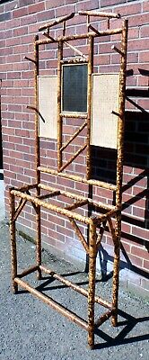 Victorian antique Aesthetic Movement Arts & Crafts bamboo hallstand hat stand