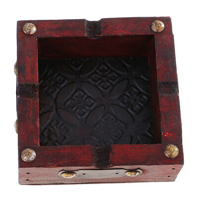 Vintage Wooden Ashtray Antique Handmade Cigarette Ashtray Case Decorative
