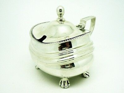 Solid Silver Mustard Pot, Sterling, LARGE, Antique, English, Hallmarked 1810