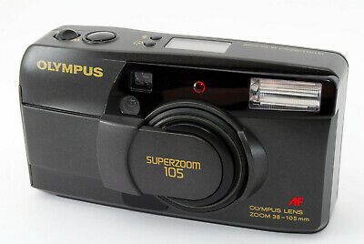 【AS IS】OLYMPUS SUPER ZOOM 105 AF Point & Shoot Film Camera From Japan T1021